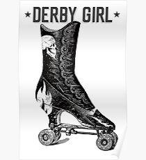 Vintage Roller Derby Girl Poster