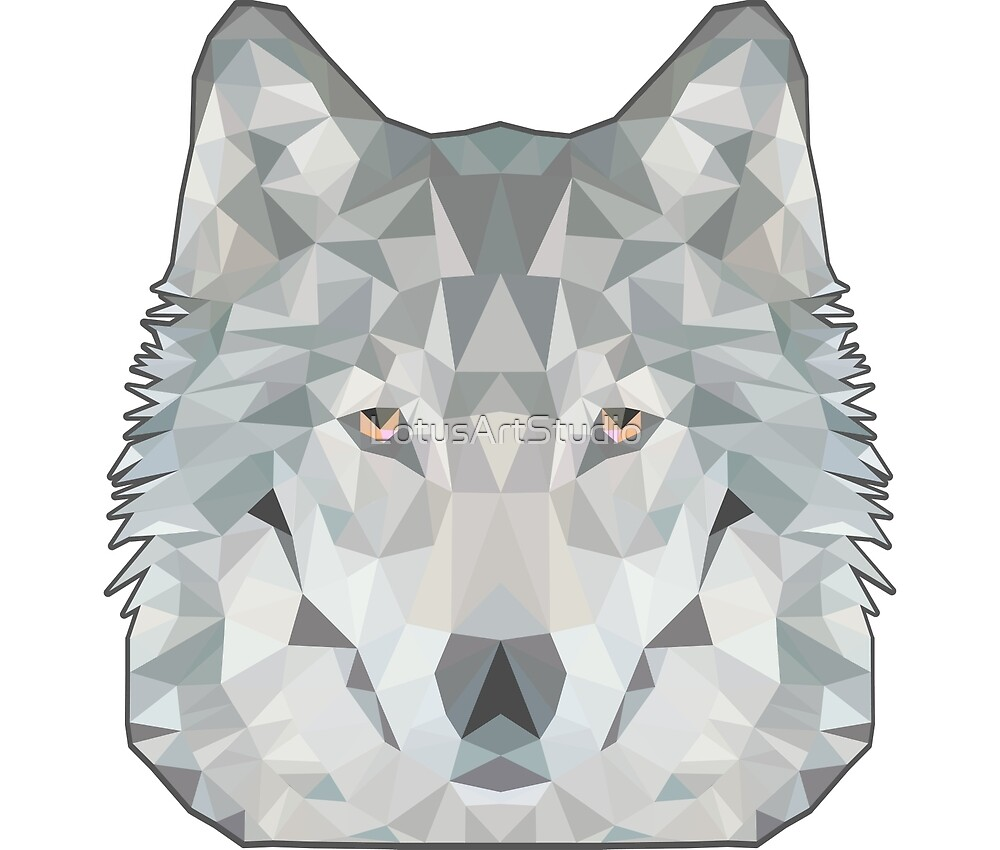 Wolf poly by LotusArtStudio