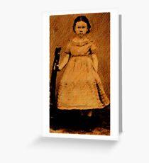 Civil War Era Little Miss Greeting Card