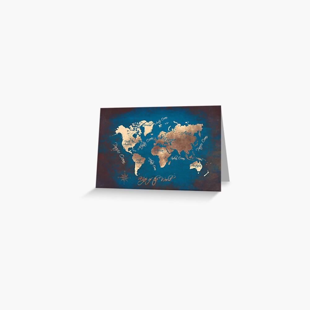 Weltkarte 29 #map #worldmap Grußkarte