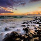 Burleigh Rocks at Dawn by Ken Wright