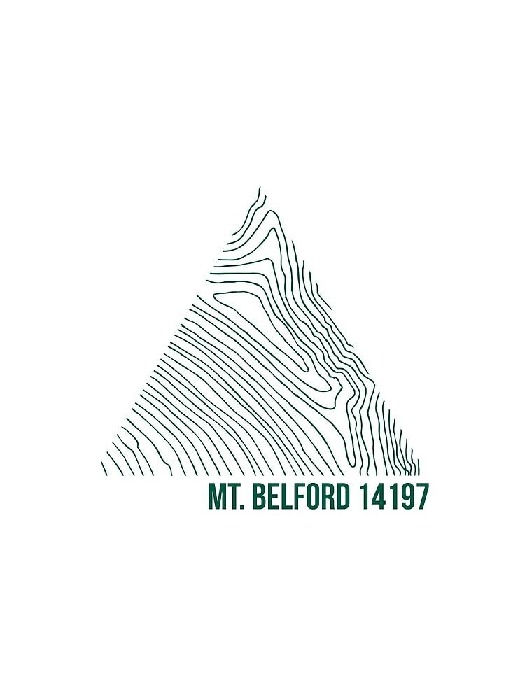 Mount Belford Topo von januarybegan