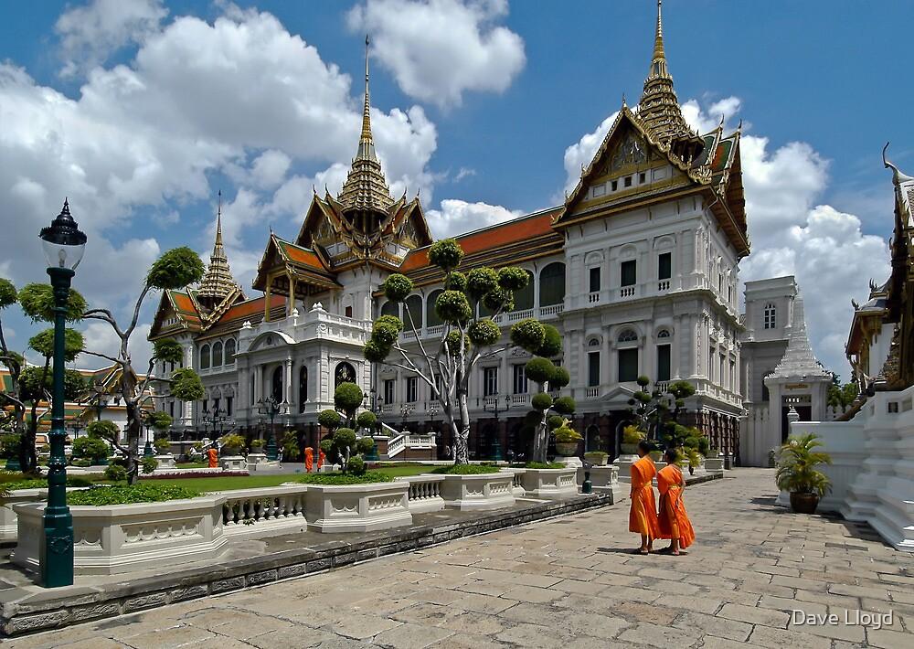 Monks At Grand Palace, Bangkok by Dave Lloyd