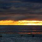 Sunrise Dip on Manly Beach by Janie. D