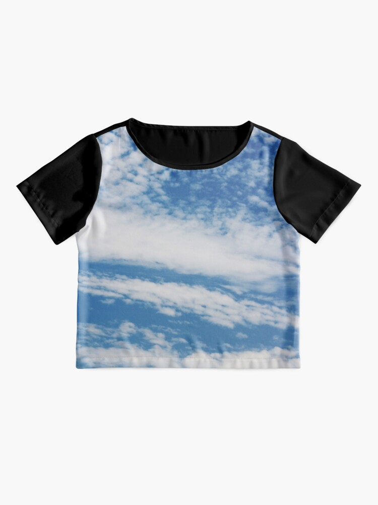 Alternate view of Fluffy clouds blue skies Chiffon Top
