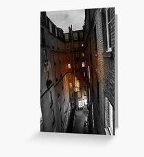 Dark Alley Greeting Card