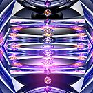 Torus-Cone Reflections of 5 Diamonds by Hugh Fathers