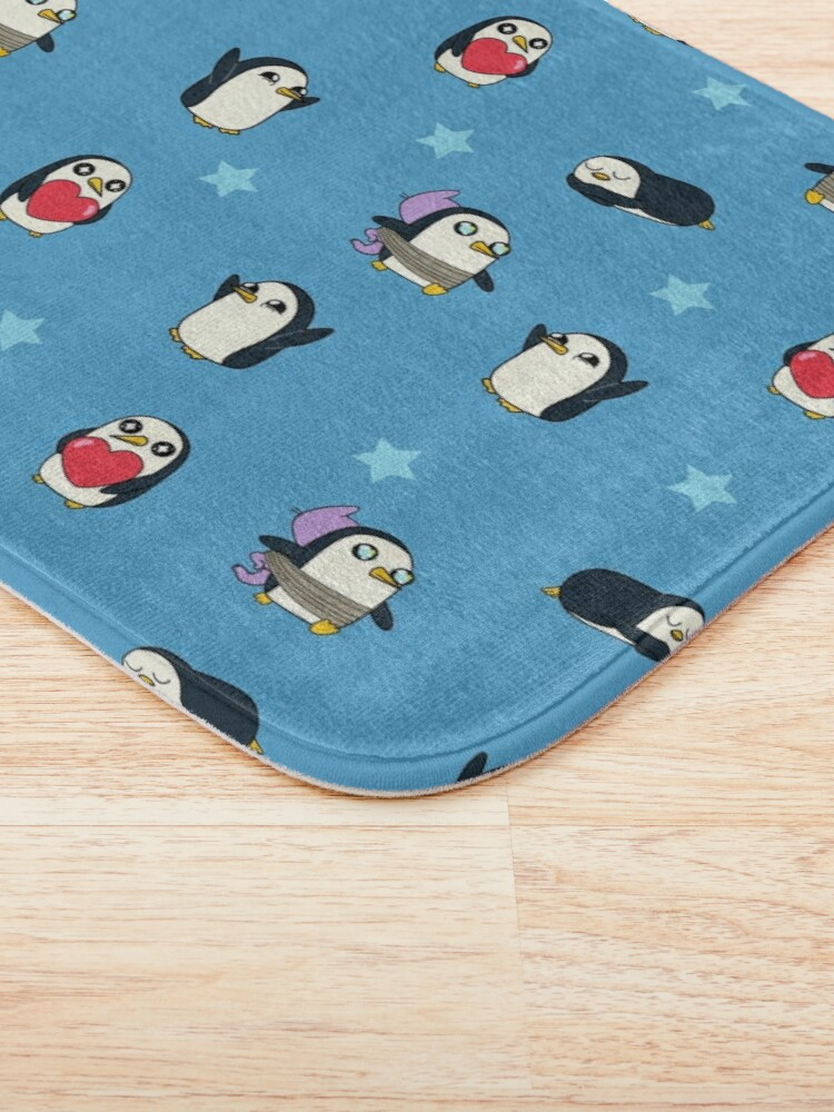Alternate view of Gunter Pattern (Blue) Bath Mat