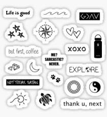 Black and White Sticker Pack Sticker