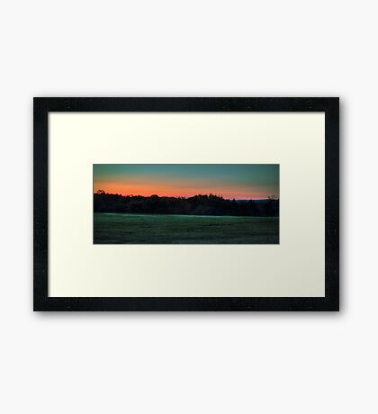 Lights Off In The Distance Framed Print