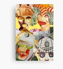strange faces - new friends Canvas Print