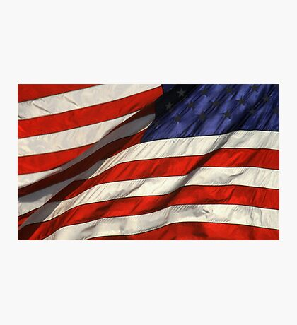 Blowing American Flag Photographic Print