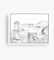 Cripple Creek - Pen & Ink Canvas Print