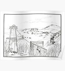 Cripple Creek - Pen & Ink Poster