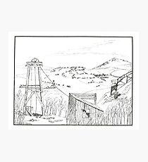 Cripple Creek - Pen & Ink Photographic Print