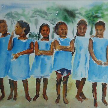 Polynesian Schoolgang by jcsaintpo