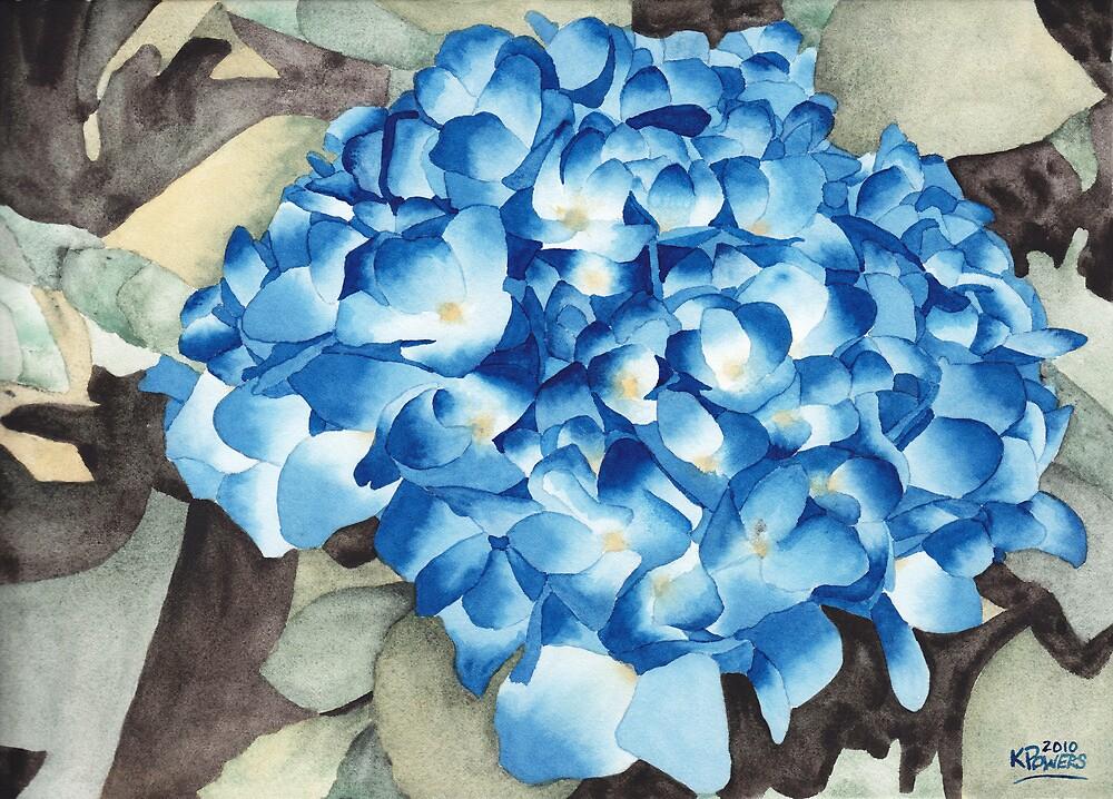 Blue Hydrangea by Ken Powers