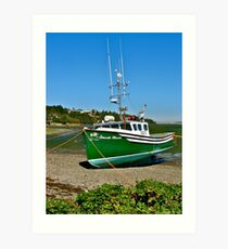 Waiting for the Tide in Yarmouth Bar Art Print