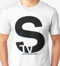 Black S with Blue trim t-shirt Unisex T-Shirt
