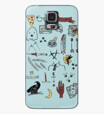 trc doodles blue background Case/Skin for Samsung Galaxy