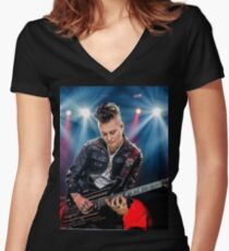 Syn gates shirt  Women's Fitted V-Neck T-Shirt