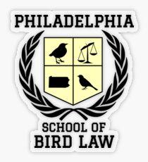 Philadelphia School of Bird Law (light color shirts) Transparent Sticker