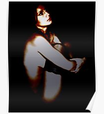 Portrait in Pearl Dark Poster