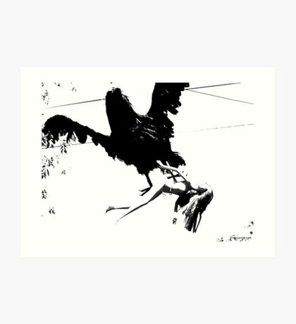 Giant Monsterbird Continues his Nefarious Journey Art Print