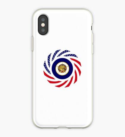 Minnesota Murican Patriot Flag Series iPhone Case