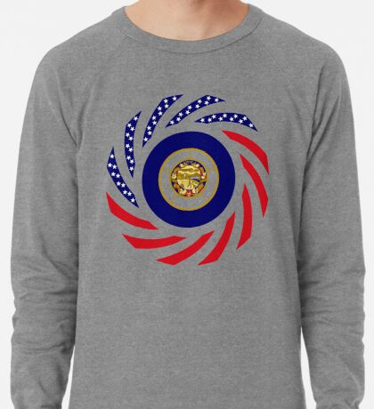 Minnesota Murican Patriot Flag Series Lightweight Sweatshirt