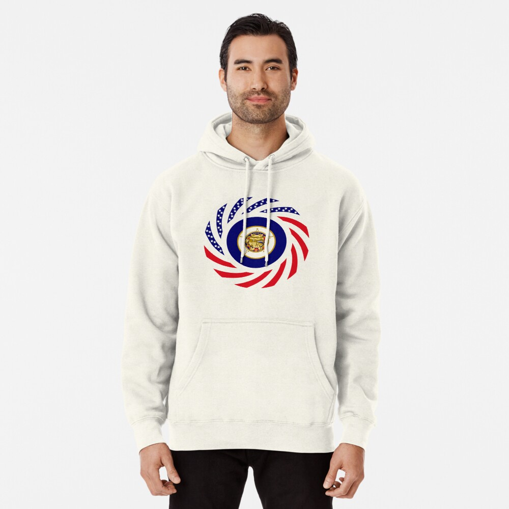 Minnesota Murican Patriot Flag Series Pullover Hoodie