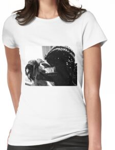 Wicker Squirrel in Love Womens Fitted T-Shirt