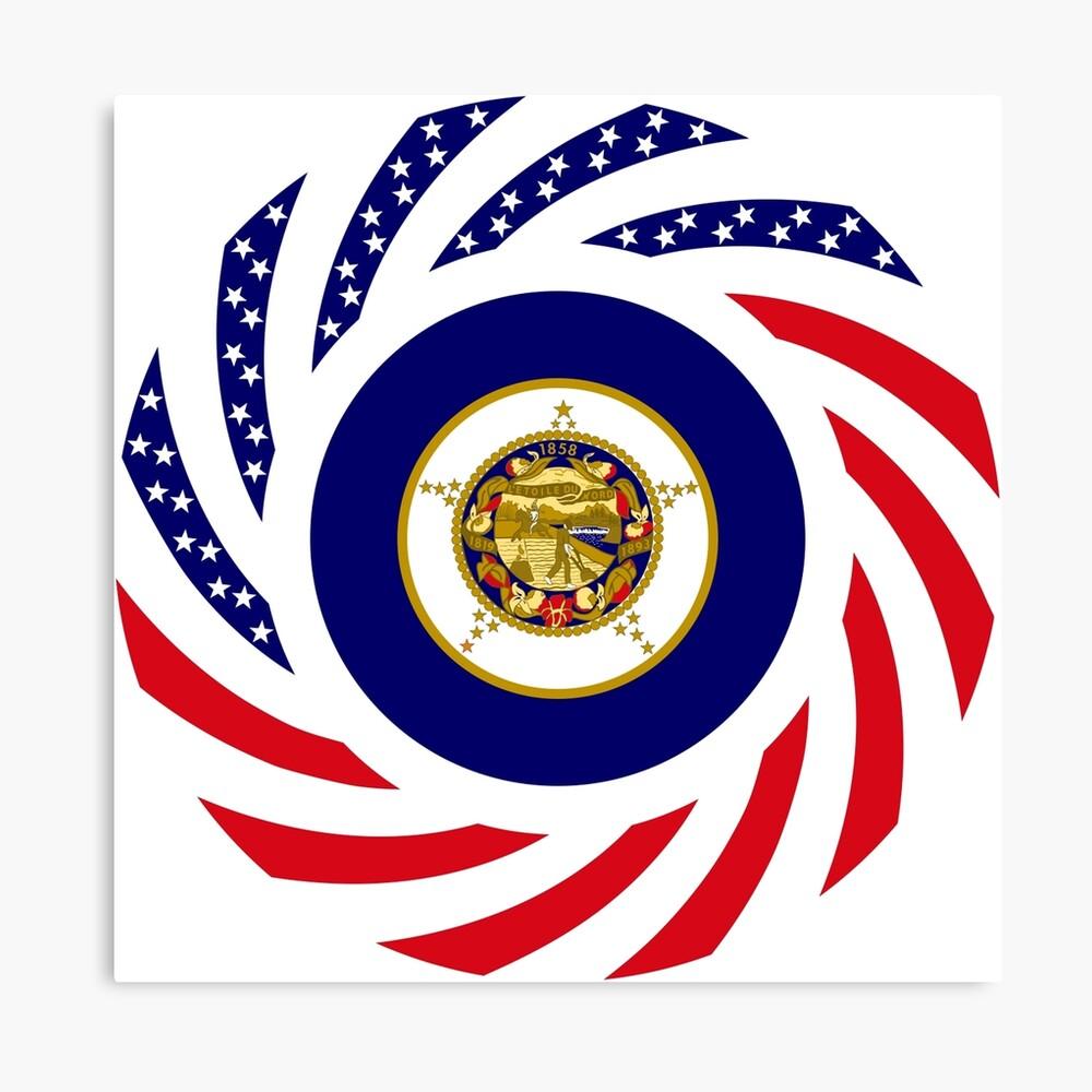 Minnesota Murican Patriot Flag Series Canvas Print