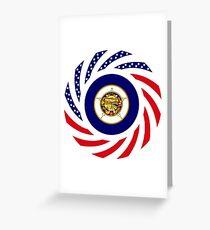 Minnesota Murican Patriot Flag Series Greeting Card