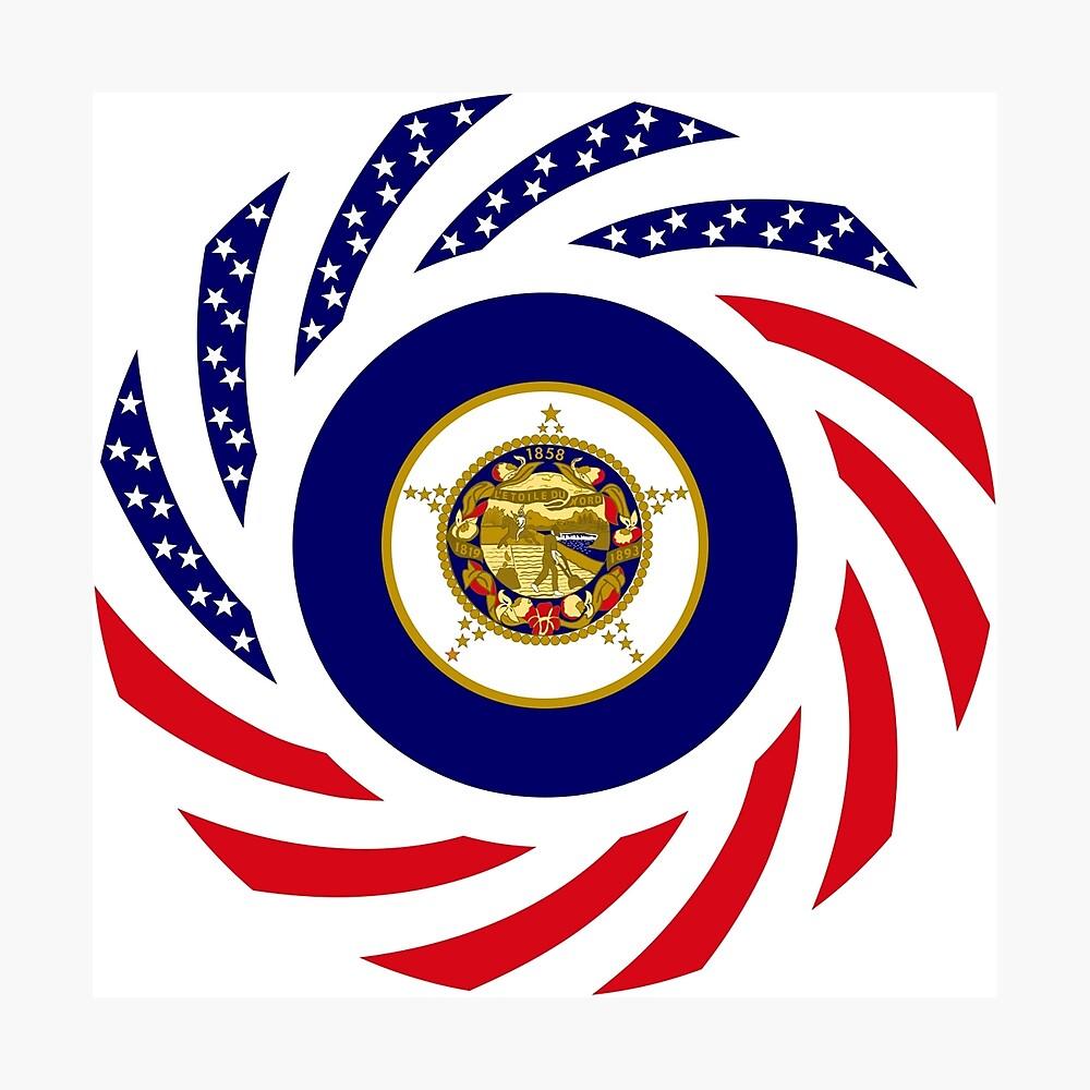 Minnesota Murican Patriot Flag Series Photographic Print