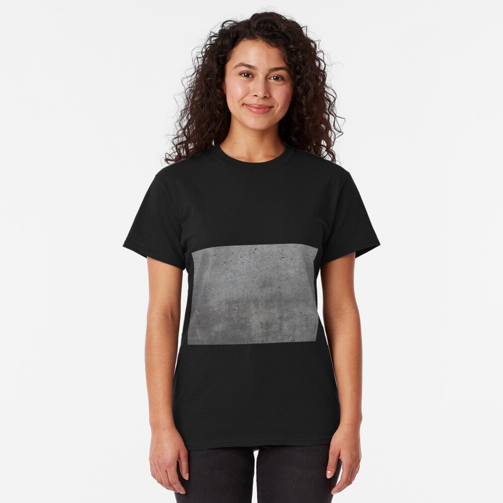 Grey textured concrete wall exterior Classic T-Shirt