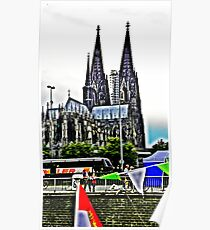At the Cologne Cathedral  Poster