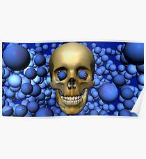 Blue Eyed Skull Poster