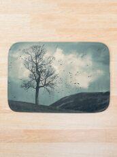"""The Flocking Tree"" by Cat Burton Bath Mat"