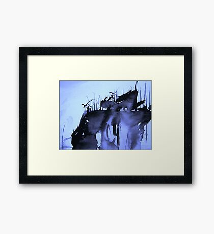 aftermath....witnesses charred habitat Framed Print