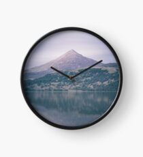 The Attraction Of Mountains by Cat Burton Clock