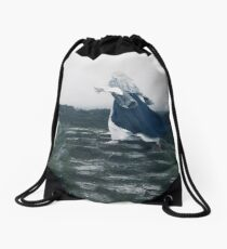The Blue Witch by Cat Burton Drawstring Bag