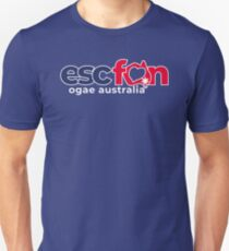 ESCFAN -OGAE Australia Logo (White) Slim Fit T-Shirt