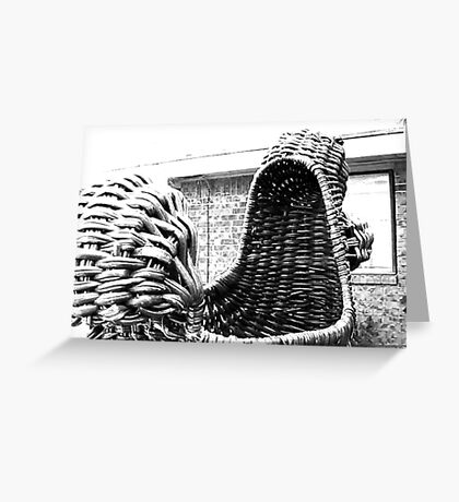 Giant Wicker Squirrel Attacks House Greeting Card