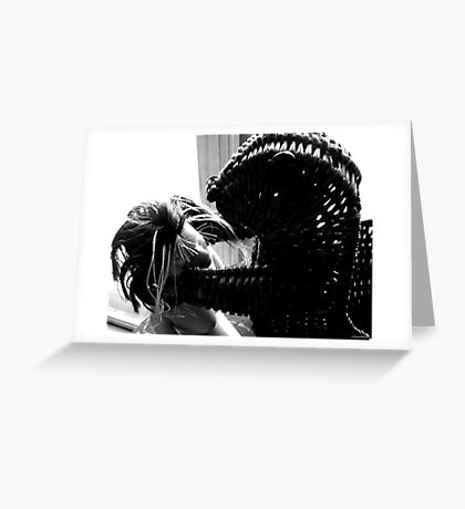 Wicker Squirrel in Love Greeting Card
