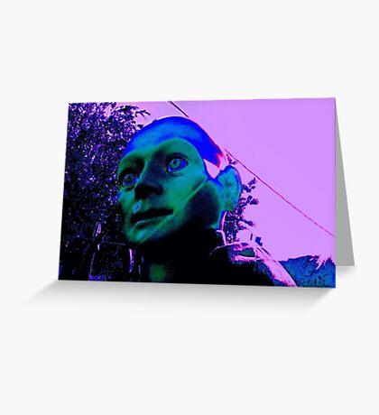 Hugo, Man of a Thousand Faces, Pinkened Greeting Card
