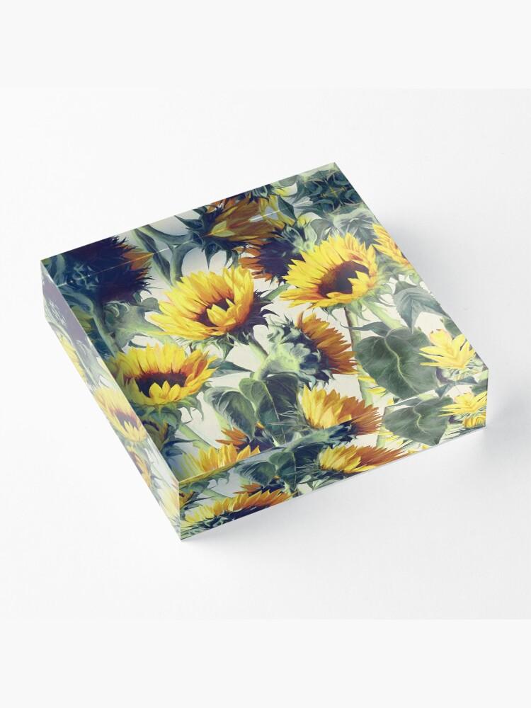 Alternative Ansicht von Sonnenblumen für immer Acrylblock