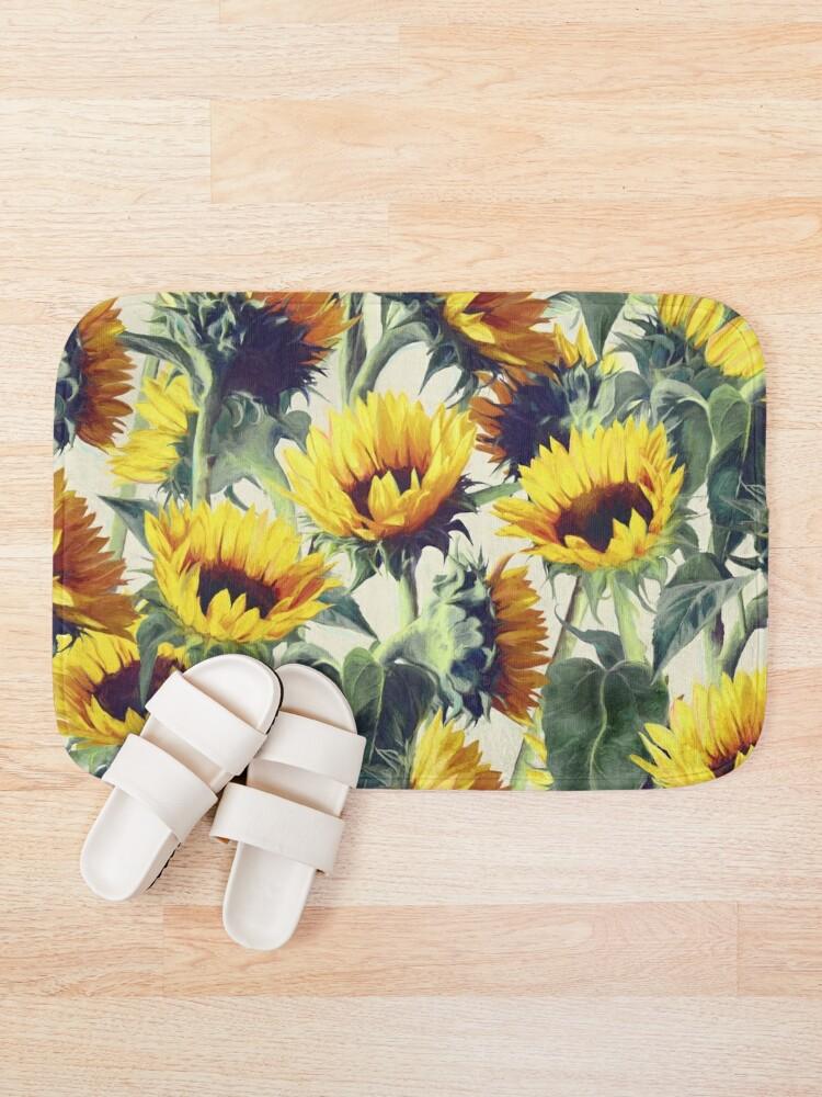 Alternative Ansicht von Sonnenblumen für immer Badematte