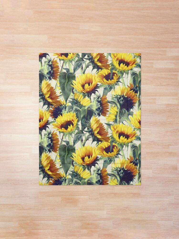 Alternative Ansicht von Sonnenblumen für immer Tagesdecke