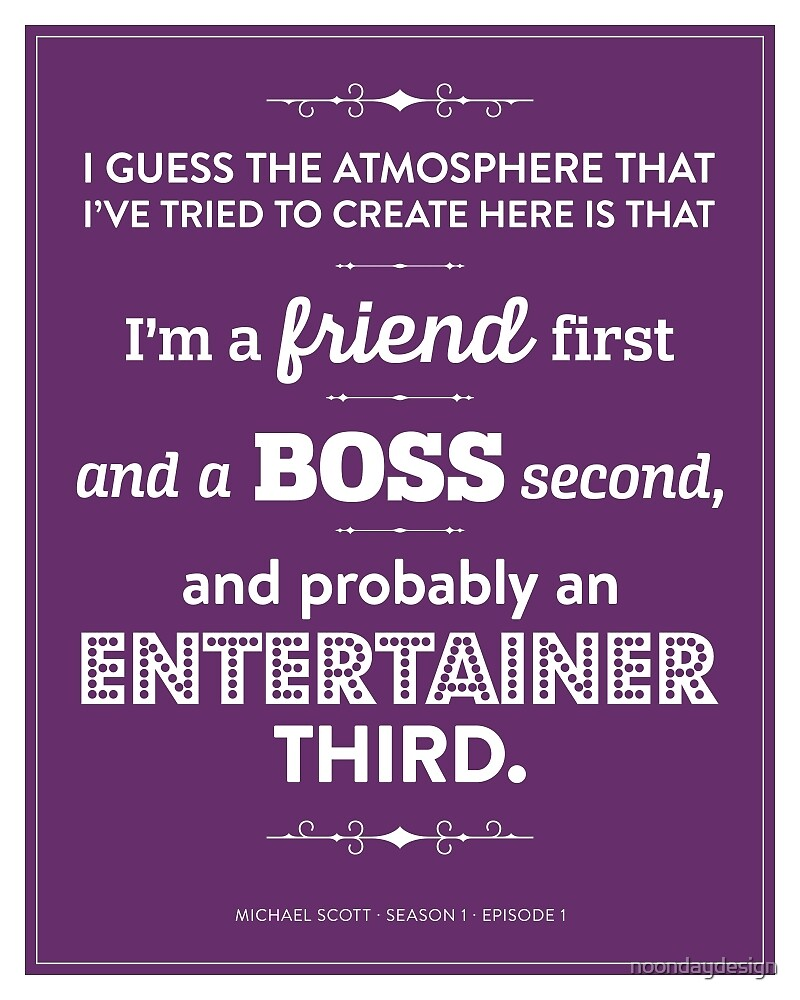 Dunder Mifflin The Office - Michael Scott - Friend, Boss